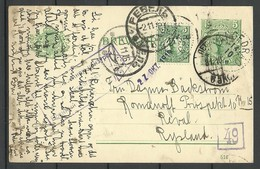 SWEDEN 1916 Ganzsache Postal Stationery To Estonia Tallinn Reval With Military Tsensor Censor Markings - Entiers Postaux