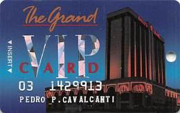 Bally's Grand Casino Atlantic City NJ Slot Card - SC35 Over Mag Stripe - Casino Cards