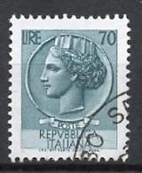 Italie - Italy - Italien 1955-60 Y&T N°718A - Michel N°1075 (o) - 70l Monnaie Syracusaine - 1946-.. République