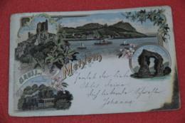 Nordrhein Westfalen Mehlem Gruss Ruine Drachenfels Und Train Staats-bahnhof 1897 - Autres