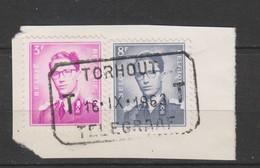 COB 1067 - 1071 Oblitération Télégraphique TORHOUT - 1953-1972 Lunettes