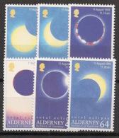 Alderney - 1999 - N°Yv. 132 à 137 - Eclipse De Soleil  - Neuf Luxe ** / MNH / Postfrisch - Espace