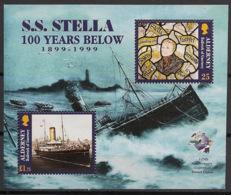 Alderney - 1999 - N°Yv. Bloc 5 - Bateau / SS Stella  - Neuf Luxe ** / MNH / Postfrisch - Bateaux