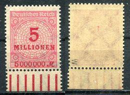 D. Reich Michel-Nr. 317W Postfrisch - Geprüft - Allemagne