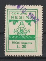 Resina. Marca Municipale Diritti Urgenza L. 30 - Italie