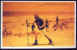 Marie Marvingt - Prova Gli Sci Di Metallo Sulle Dune - Marocco 1924 - Cartes Postales