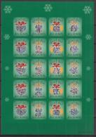 Aland - 2001 - Feuille Adhésive God Jul - Neuf Luxe ** / MNH / Postfrisch - Aland