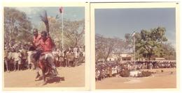 KOUDOUGOU  ET SABOU  ACCUEIL JARDIN MAIRIE  JANVIER 70  LES 3 PHOTOS - Afrique