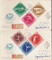 Ungheria 1952 - 2 Buste Fdc:GIOCHI OLIMPICI ESTIVI HELSINKI '52.RACCOMANDATA. - FDC