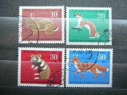 Rabbit Stoat Hamster Red Fox # Berlin Germany 1966 Used #Mi. 299/02 - [5] Berlin