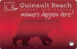 Quinault Beach Resort & Casino - Ocean Shores WA - BLANK Slot Card - Casino Cards