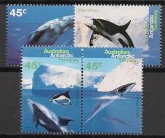Australian Antarctic Territory / AAT - 1995 - N°Yv. 102 à 105 - Faune Marine - Neuf Luxe ** / MNH / Postfrisch - Baleines