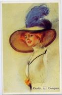 Ready To Conquer - Donnina - Stati Uniti  1911 - Riproduzione Da Originale - Cartoline
