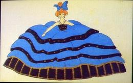 Un'esagerata Donnina Settecendesca - Francia 1928 - Cartoline