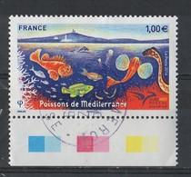 2016  YT / 5077  Poissons De Méditerranée  Obl Ronde - France