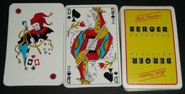"""Rare Jeu De 32 Cartes, """"Midi 7 Heures ..."""" BERGER Anisette Anis, Carte Alcool, Joker - 32 Cards"""