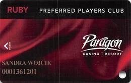 Paragon Casino - Marksville LA - Ruby Slot Card With LVP-796486-1 - Cartes De Casino