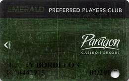 Paragon Casino - Marksville LA - Emerald Slot Card With Player Photo - Casino Cards