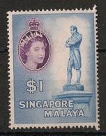 Singapore - 1955 - N°Yv. 40 - Queen Elisabeth II  - Neuf Luxe ** / MNH / Postfrisch - Singapur (1959-...)