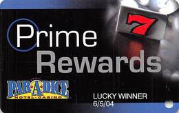 Par-A-Dice Casino - East Peoria, IL - Slot Card - Lucky Winner Printing - Casino Cards