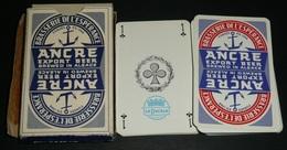 Rare Ancien Jeu De 32 Cartes En Boite, Brasserie De L'Espérance ANCRE, Bières Bière D'Alsace Export Beer, Carte Alcool - 32 Cartes