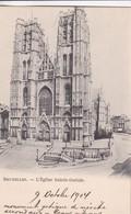 BRUXELLES. L'EGLISE SAINTE GUDULE - CPA CIRCA 1900s - BLEUP - Panoramische Zichten, Meerdere Zichten