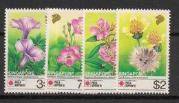 Singapore - 1991 - N°Yv. 619 à 622 - Fleurs / Flowers - Neuf Luxe ** / MNH / Postfrisch - Singapore (1959-...)