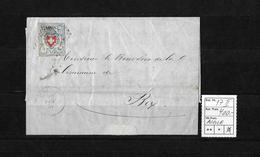 1843-1852 Kantonalmarken Rayon I → 1854 Brief AIGLE Nach Bex  ►SBK-17II Type10 Stein C1-LU◄ - 1843-1852 Federal & Cantonal Stamps