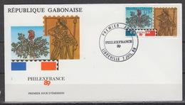 GABON : 664 FDC (1989) - Philexfrance - Gabon (1960-...)
