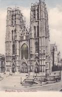 BRUXELLES. EGLISE SAINTE GUDULE - CPA CIRCA 1904s - BLEUP - Panoramische Zichten, Meerdere Zichten