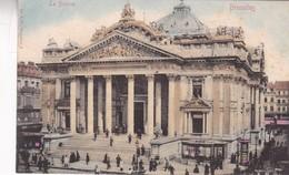 BRUXELLES. LA BOURSE. ED V G - CPA CIRCA 1904s - BLEUP - Panoramische Zichten, Meerdere Zichten