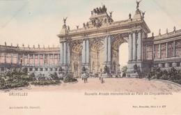 BRUXELLES. NOUVELLE ARCADE MONUMENTALE AU PARC DU CINQUANTENAIRE. NELS ARCHITECTE CH GIRAULT - CPA CIRCA 1904s - BLEUP - Panoramische Zichten, Meerdere Zichten