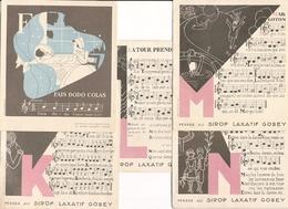 Lot De 5 Chansons Documents Du Sirop Laxatif Gobey - Musique & Instruments