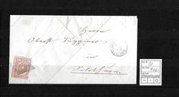 1843-1852 Kantonalmarken Rayon III → 1854 Brief Olsberg Bei Rheinfelden   ►SBK-20◄ - 1843-1852 Kantonalmarken Und Bundesmarken