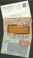 Dpt. INDRE - CHATEAUROUX / Lot De 3 Enveloppes Commerciales 1952 - Postmark Collection (Covers)