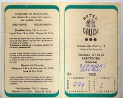 Hotel Gaudi - Barcelona - Publicitaria - Vieux Papiers