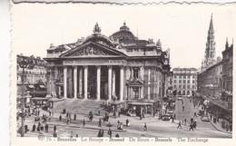 BRUXELLES. LA BOURSE THE EXCHANGE. ALBERT PHOTOTYPIE A DOHMEN - CPA CIRCA 1920s - BLEUP - Multi-vues, Vues Panoramiques