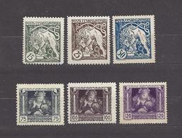 Czechoslovakia 1919 MNH ** Mi 34-39 Sc B124-B129 Bohemian Lion Breaking Chains And Mother And Child.c8 - Czechoslovakia