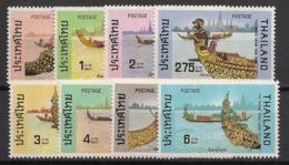 Thailand - 1975 - N°Yv. 754 à 761 - Barques - Série Complète - Neuf Luxe ** / MNH / Postfrisch - Thailand