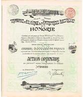 Ancienne Action -Sté Anonyme De Tramways, D'Eclairage & D'Entreprises Electriques En Hongrie - Titre De 1899 - N°38634 - Chemin De Fer & Tramway
