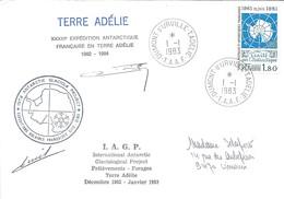 TAAF - Dumont D'Urville-T.Adélie: Lettre Avec Timbre N°91 Traité Sur L'Antarctique - 01/01/1983 - French Southern And Antarctic Territories (TAAF)