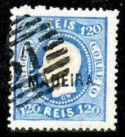 !■■■■■ds■■ Madeira 1868-1870 AF#12ø D.Luís Curved Label 120 Réis (x5497) - Madère
