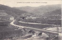 CPA 07 @ SAINT MARTIN DE VALAMAS - Quartier D'Amarnas , Le Moulinage En 1911 - Saint Martin De Valamas