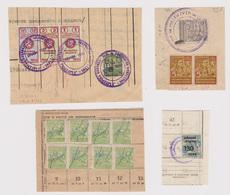 #m309 Bulgaria Bulgarian Various Fiscal Revenue Stamps On Fragments - Bulgarie