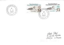 TAAF - Dumont D'Urville-T.Adélie: Lettre Avec Timbres N°97 Et 98 Canard D'Eaton - 01/01/1983 - Terres Australes Et Antarctiques Françaises (TAAF)