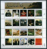 VEREINIGTE STAATEN ESTATS UNIS USA 1998 AMERICAN ART AMERICAN ART SHEET OF 20V MNH SC 3236SP YV F2775-2794 MI SH3007-26 - Etats-Unis