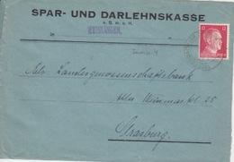 P Lettre à Entête (S.u.D.Weislingen) Obl Tieffenbach (T329B Tieffenbach Kr Zabern A) Sur TP Reich 12pf=1°éch Le 24/3/42 - Alsace Lorraine