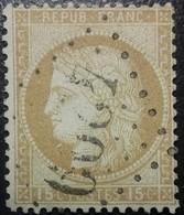 FRANCE Y&T N°55 Cérès 15c Bistre. Oblitéré Losange GC. N°6087 Eguisheim - 1871-1875 Cérès