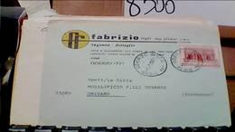 ODERZO TREVISO DITTA INGROSSO MOBILI FABRIZIO   BUSTA 50 LIRE JACOPO TATTI SANSOVINO VB1971 HB9261 - Treviso