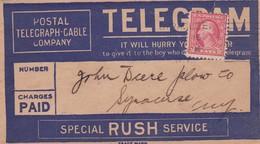 POSTAL TELEGRAPH CABLE COMPANY CIRCULEE USA 1945 BANDELETA PARLANTE - BLEUP - Etats-Unis